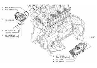 Датчики температуры, детонации, абсолютного давления, синхронизации, фазы, давления масла, стартер