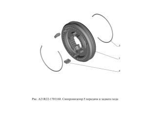 A21R22-1701168 Синхронизатор 5 передачи и заднего хода