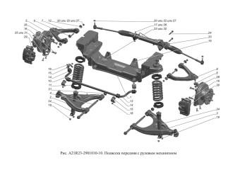 A21R23-2901010-10 Подвеска передняя с рулевым механизмом
