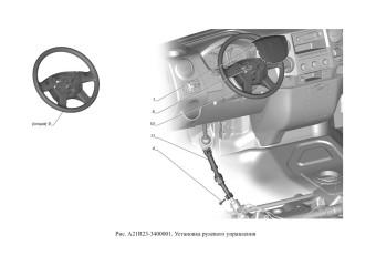 A21R23-3400001 Установка рулевого управления