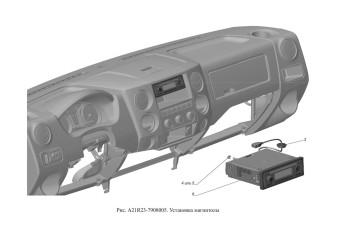 A21R23-7908005 Установка магнитолы опция Головное устройство 1 DIN с кнопками на руле и USB
