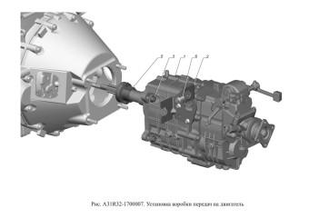 A31R32-1700007 Установка коробки передач на двигатель Опция Дистанционный привод КПП