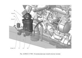 A63R42-1117001 Установка фильтра тонкой очистки топлива