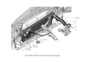 A63R42-1172001-10 Установка охладителя наддува