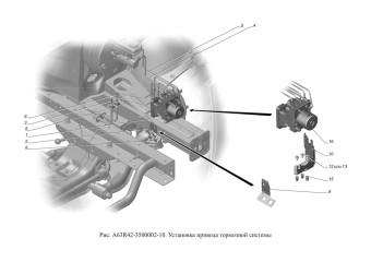 A63R42-3500002-10 Установка привода тормозной системы