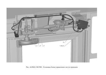 A63R42-3867001 Установка блока управления и жгута проводов