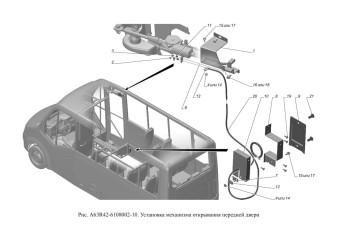 A63R42-6108002-10 Установка механизма открывания передней двери