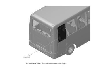 A63R42-6203002 Установка деталей задней двери опция Теплопоглощающие стекла