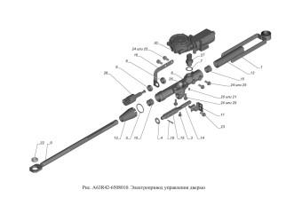 A63R42-6508010 Электропривода управления дверью