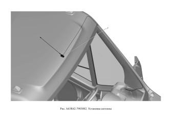 A63R42-7903002 Установка антенны опция Головное устройство 1 DIN с кнопками на руле и USB, Головное устройство 2 DIN с кнопками на руле и USB