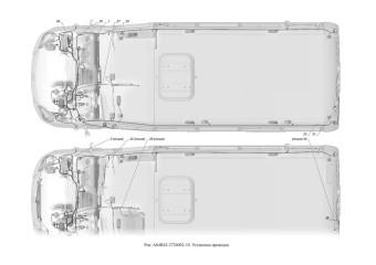A64R42-3724002-10 Установка проводов опция Электроподогрев наружных зеркал