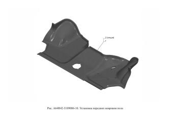 A64R42-5109006-10 Установка передних ковриков пола