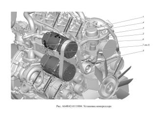 A64R42-8111004 Установка компрессора