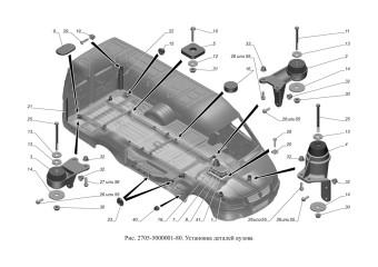 2705-5000001-80 Установка деталей кузова