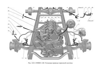 3221-3500001-140 Установка привода тормозной системы опция Тормозная система с АБС