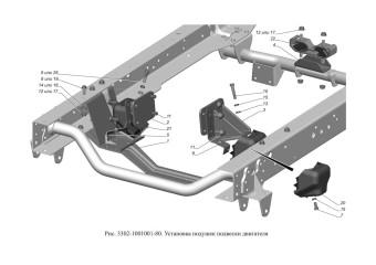 3302-1001001-80 Установка подушек подвески двигателя