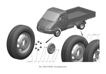 3302-3101001 Установка колес