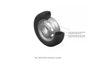 3302-3101011-04 Колесо с шиной