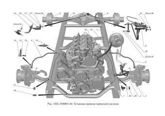 3302-3500001-80 Установка привода тормозной системы