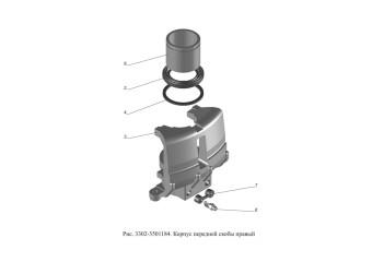 3302-3501184 Корпус передней скобы правый
