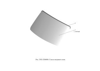 3302-5206008 Стекло ветрового окна