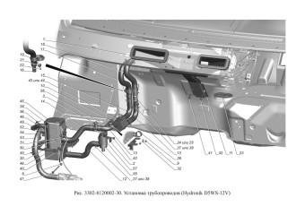 3302-8120002-30 Установка трубопроводов опция Догреватель системы отопления