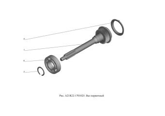 A21R22-1701025 Вал первичный
