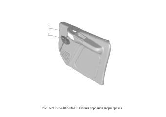 A21R23-6102208-10 Обивка передней двери правая