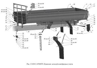 С41R11-8500076 Комплект деталей платформы и тента