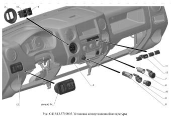 С41R13-3710005 Установка коммутационной аппаратуры