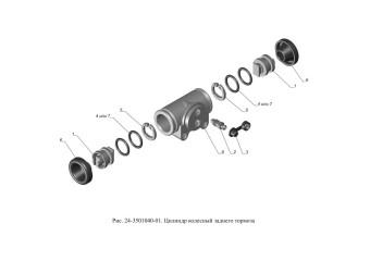 24-3501040-01 Цилиндр колесный заднего тормоза