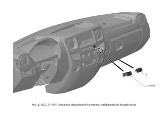 A21R22-3710007 Установка выключателя блокировки дифференциала заднего моста