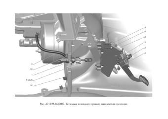 A21R23-1602002 Установка педального привода выключения сцепления