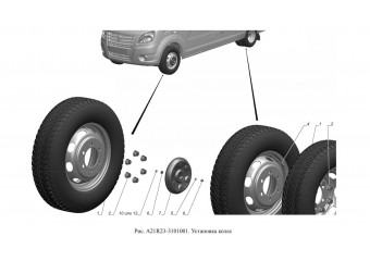 A21R23-3101001 Установка колес