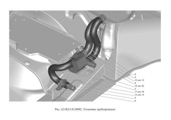 A21R23-8120002 Установка трубопроводов опция Без дополнительного отопителя