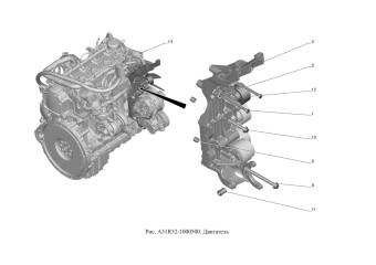 A31R32-1000500 Двигатель