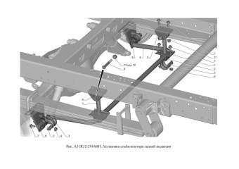 A31R32-2916001 Установка стабилизатора задней подвески опция Стабилизатор задней подвески
