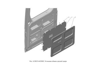 A32R23-6422002 Установка обивки средней двери