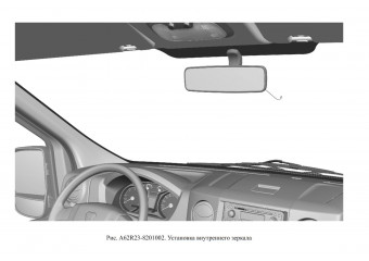 A62R23-8201002 Установка внутреннего зеркала опция Зеркало салонное