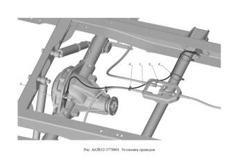 A62R32-3770001 Установка проводов опция Блокируемый дифференциал