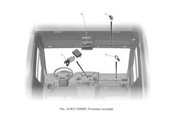 A62R32-3848002 Установка тахографа опция Тахограф-стандарт