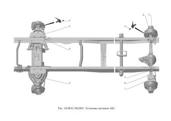 A63R42-3862001 Установка датчиков АБС