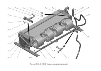 A65R32-8115010 Охладитель воздухазадний