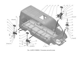 A65R33-5000001 Установка деталей кузова