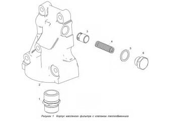 5340.1012012 Корпус масляного фильтра с клапаном теплообменника