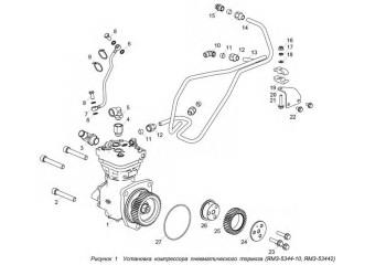 5344.3509005-10 Установка компрессора пневматического тормоза
